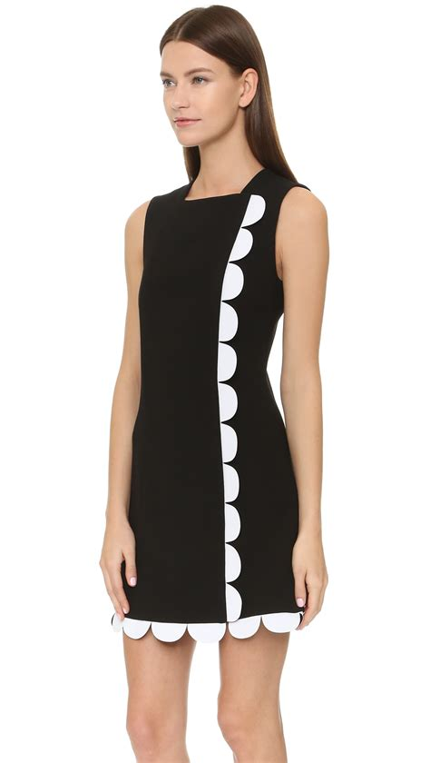 43798 White Trim Dress beckham scallop trim dress in black lyst