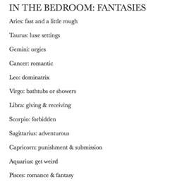 zodiac astrology bedroom fantasies of the signs