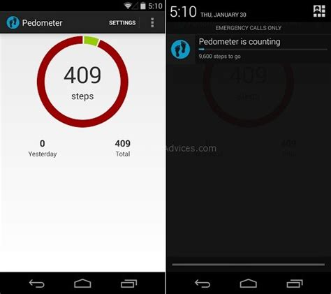free pedometer app for android the best free pedometer step counter apps for the nexus 5 android advices