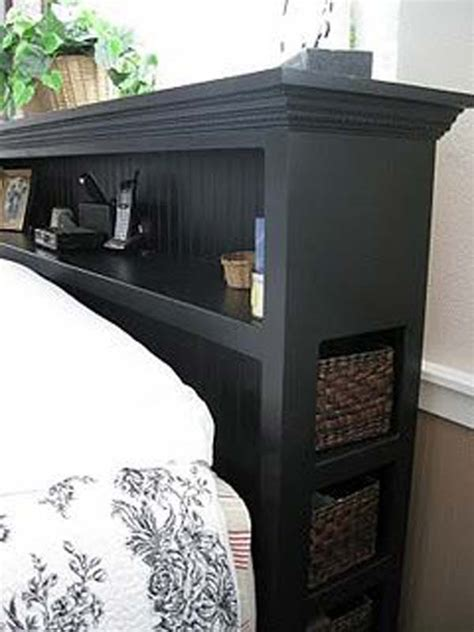 Headboard With Storage 17 Headboard Storage Ideas For Your Bedroom Amazing Diy Interior Home Design