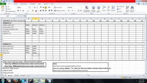 starting strength template planning out my bulk getting tired of starting