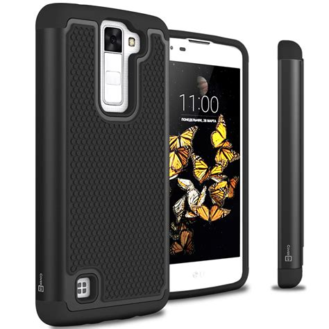 Hardcase Lg K8 black for lg k8 lg escape 3 hybrid phone cover ebay