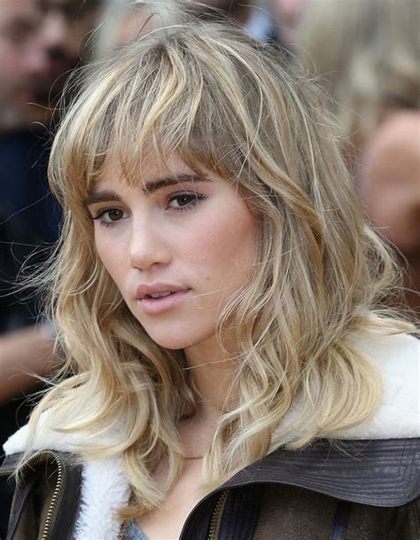 wavy blunt medium 2014 suki waterhouse medium hairstyles wavy hair with