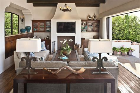 behind couch floor l behind sofa table family room eclectic with gray patterned