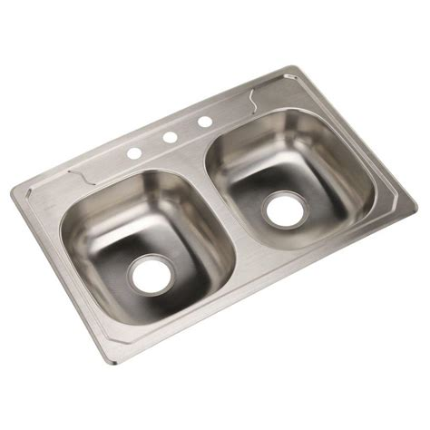 Sterling Stainless Steel Kitchen Sinks by Sterling Middleton Drop In Stainless Steel 33 In 3