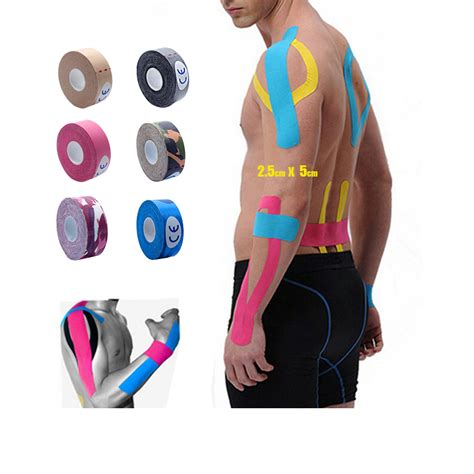 Sport Elastic Kinesio Bandage Injury Support 2 5cm X 5m Kinesiology Kinesio Roll Cotton Elastic Adhesive Sports Patch