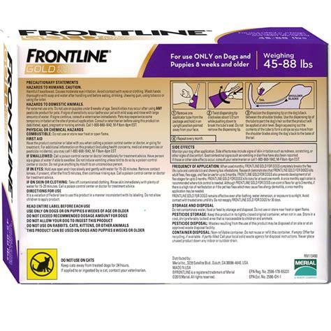 frontline gold for dogs frontline gold for dogs 45 88 lbs purple 3 month