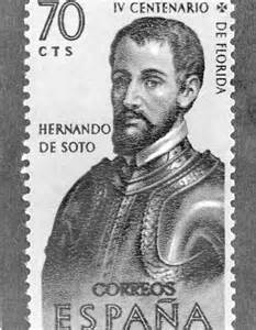 florida memory painting of hernando de soto on postage stamp