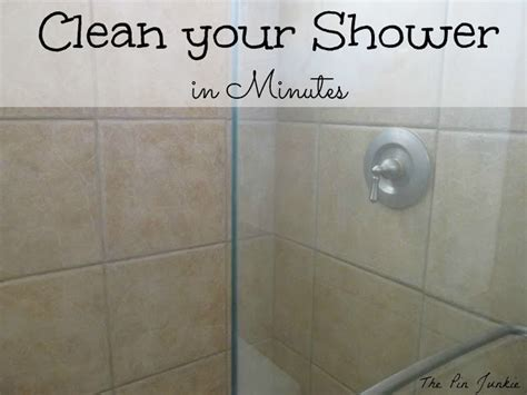 Easy To Clean Shower Doors The Pin Junkie How To Clean Glass Shower Doors The Easy Way