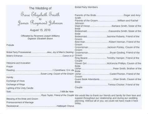 free printable wedding program templates word diy modern typography
