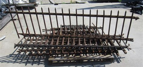 Iron Fence Sections by Nor East Architectural Salvage Of South Hton Nh