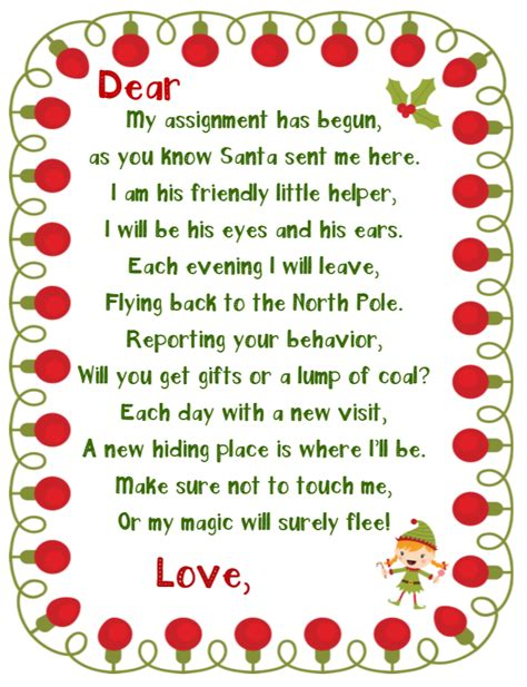 You can print your elf on the shelf printable welcome letter from a