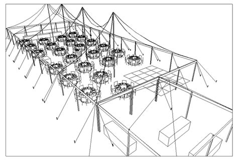 Cad Tent Layout For Wedding Reception With 150 Guests In Party Invitations Ideas Tent Layout Template