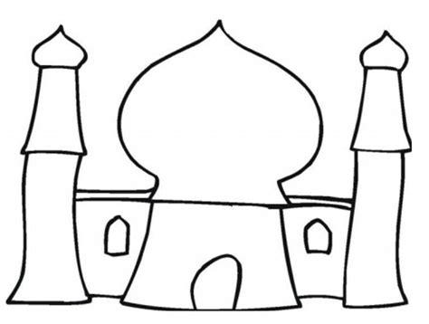 quran coloring book gambar mewarnai masjid clipart best
