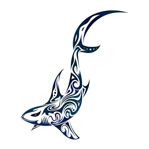tribal hammerhead shark tattoo cool tribal shark drawings