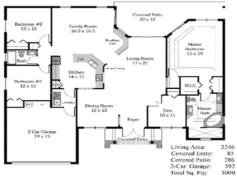 Open House Floor Plans With Pictures | 4 bedroom house plans open floor plan 4 bedroom open house