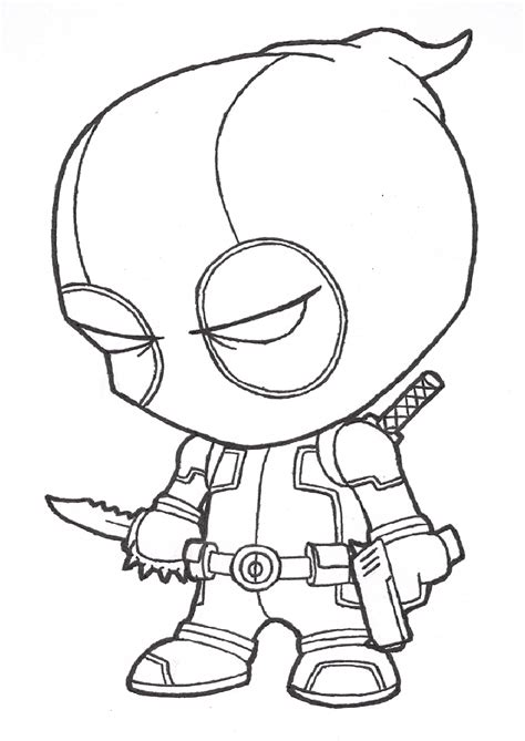 chibi superheroes coloring pages chibi deadpool coloring pages coloring pages