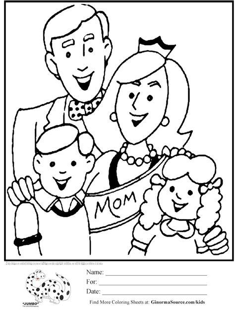 Mewarnai gambar untuk anak-anak: Gambar Mewarnai Tema Keluarga