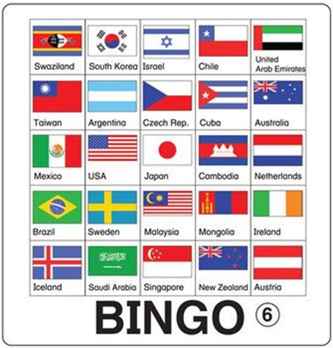 flags of the world quiz easy esl games flag bingo minnesota teaching and good ideas
