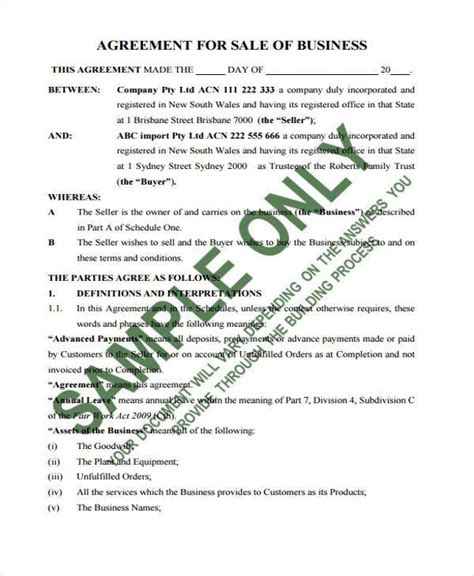 company contract agreement sle contract forms
