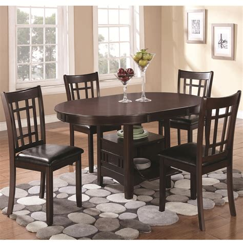 coaster dining room set coaster lavon 5 piece dining set with storage table