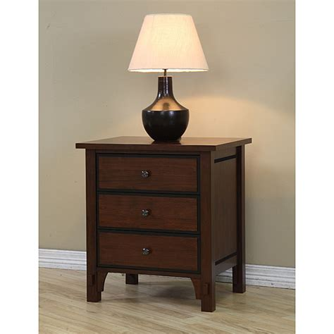 Nightstands Overstock Talisman 3 Drawer Bedside Table Overstock Shopping