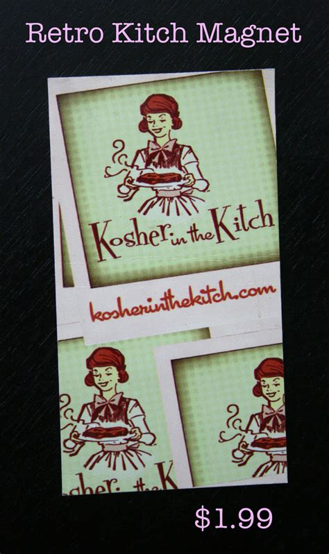 the kitch retro kitch magnet kosher in the kitch