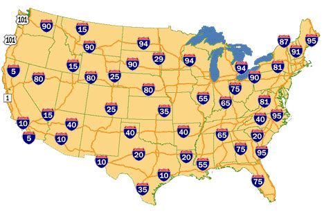 map of the united states with major highways interstate highway map of united states polycms