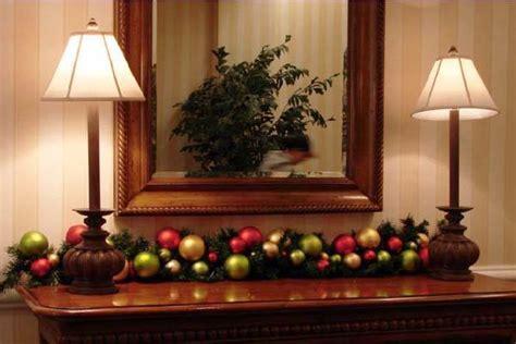 sofa table christmas decorating ideas hermosas ideas para decorar con esferas en navidad