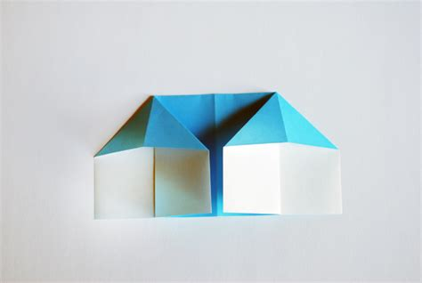 Paper House Origami - make an adorable origami doll house