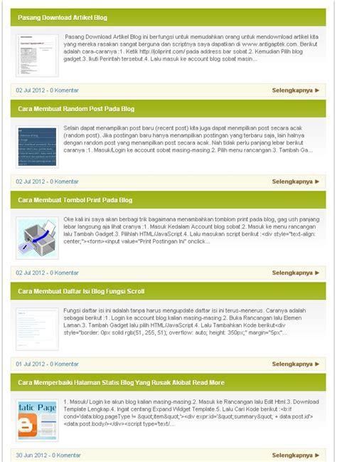 membuat daftar isi praktis cara membuat widget daftar isi blogger dengan navigasi halaman