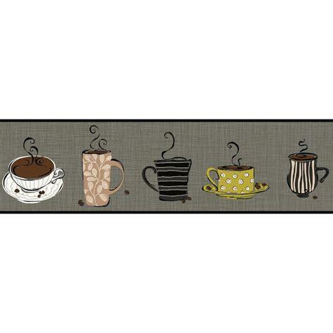 Wallpaper Borders Coffee Cups | york wallcoverings bistro 750 coffee mug wallpaper border