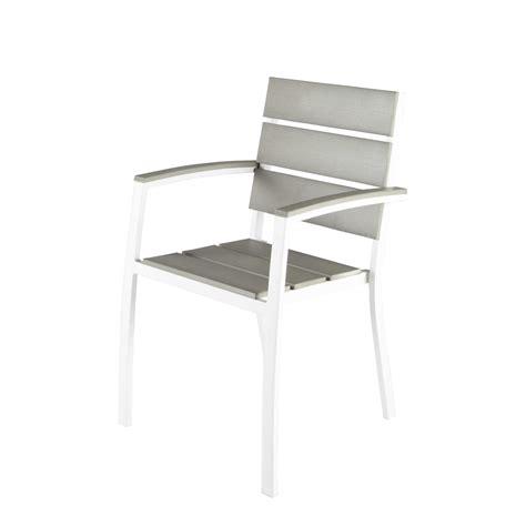 fauteuil de jardin aluminium fauteuil de jardin en aluminium blanc escale maisons du monde