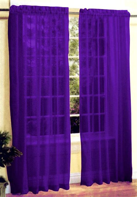 dark purple drapes new 2 pc sexy sheer voile window curtain panel set dark