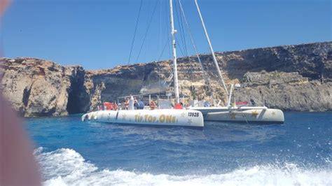 catamaran malta view of catamaran from speed boat picture of tip top one