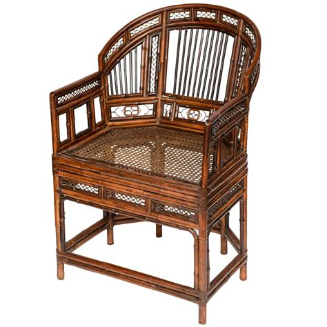 chinese armchair a fine chinese export bent bamboo armchair at 1stdibs