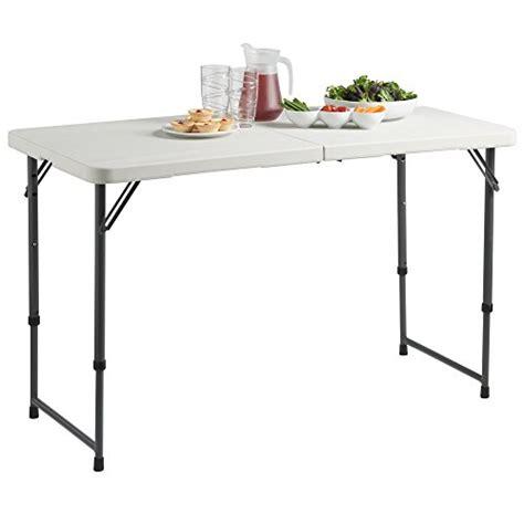 4ft folding table adjustable height vonhaus 4ft adjustable height folding trestle table for