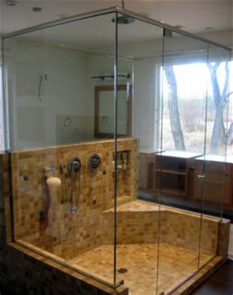 Two Sided Shower Stall Frameless Showers Ideal Mirror And Glass