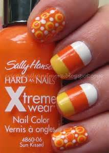 Candy corn nail design halloween nail ideas seventeen nail art