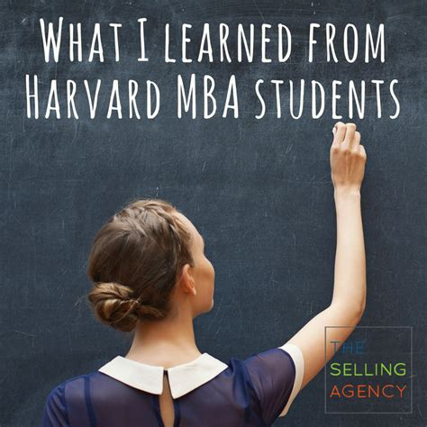 What I Learned From My Mba the selling agency