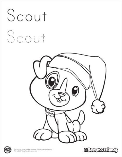 leapfrog scout coloring pages coloring coloring pages