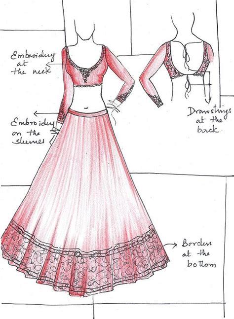 fashion illustration lehenga designer lehenga sketches search indian wear