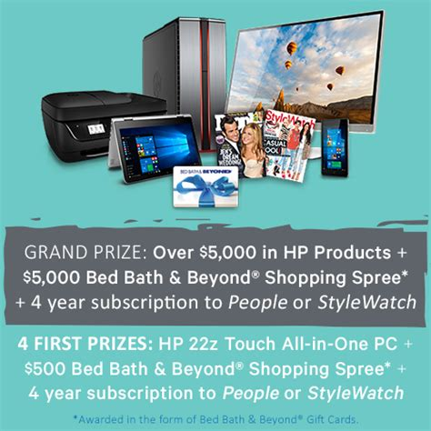 People Stylewatch Sweepstakes - bed bath beyond student life 2016 sweepstakes