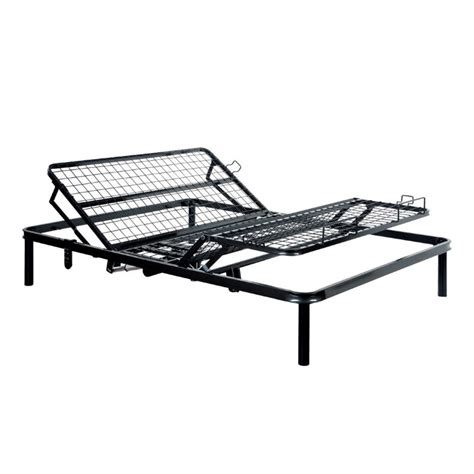 reclining bed frame furniture of america fox ii queen adjustable bed frame in