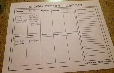 cing menu planner template 7 day dinner planner template related keywords 7 day