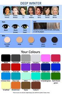 color me beautiful winter autumn palette winter brown hairs