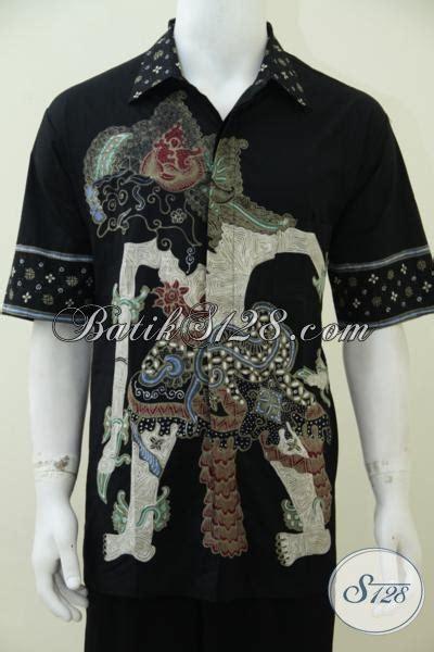 Jual Batik Semata Wayang pusat pakaian batik pria muda dan dewasa jual hem batik lengan pendek motif wayang bima