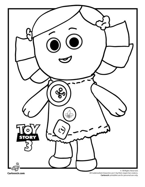 Toy Story Characters Coloring Pages Coloring Home Story 3 Colouring Pages