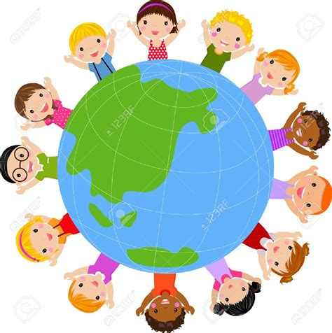 free childrens clipart children and world clipart clipground