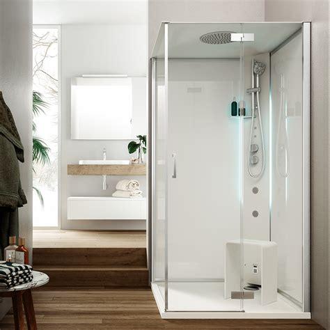glass docce metis cabina doccia multifunzione con porta battente